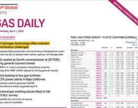 S&P Global Platts – Gas Daily