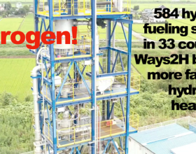 Hydrogen is Hot! 584 Hydrogen Fueling Stations in 33 Countries, Ways2H Expansion, Preem, Siemens and More
